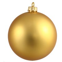 "Matte Vegas Gold UV Resistant Commercial Shatterproof Christmas Ball Ornament 6"" (150mm)"