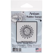 """Joggles Cling Stamp, 2"""" x 2"""", Doodle Flower #2"""