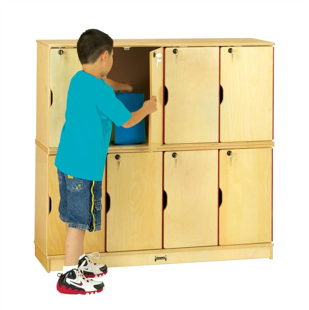 Jonti Craft Double Stack 8 Locker Set w Keys