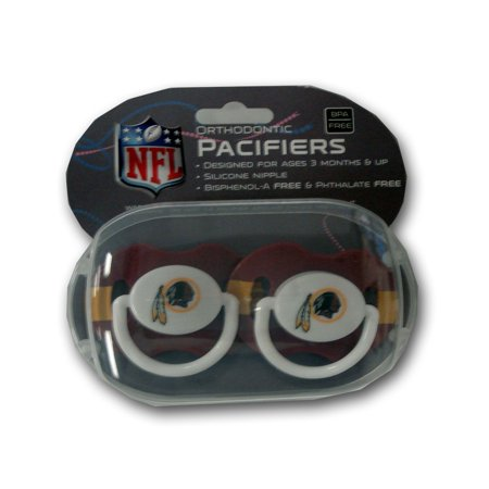 Baby Fanatic Nfl 2 Pack Baby Pacifiers  Washington Redskins