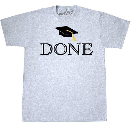 Inktastic Done Graduation Time T-Shirt Cap Tassel Year School High College