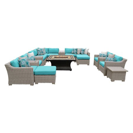 Tk Classics Coast 17 Piece Wicker Patio Furniture Set With Agio