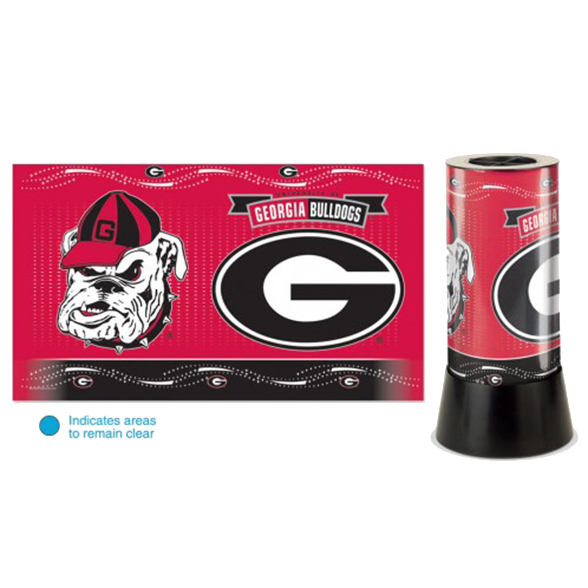 "WinCraft NCAA University of Georgia Rotating Lamp, 12"" H"