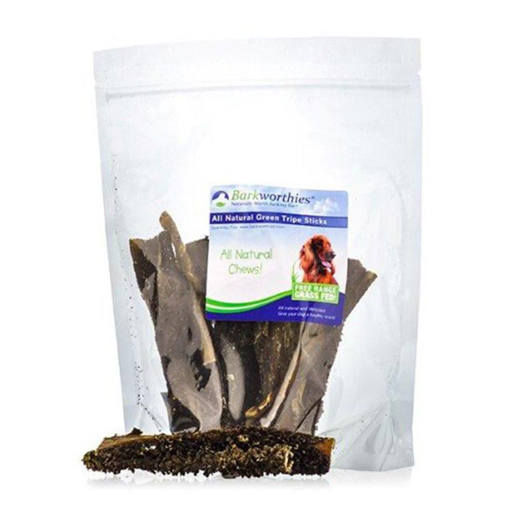 Barkworthies Green Tripe Sticks Treat Pack of 4