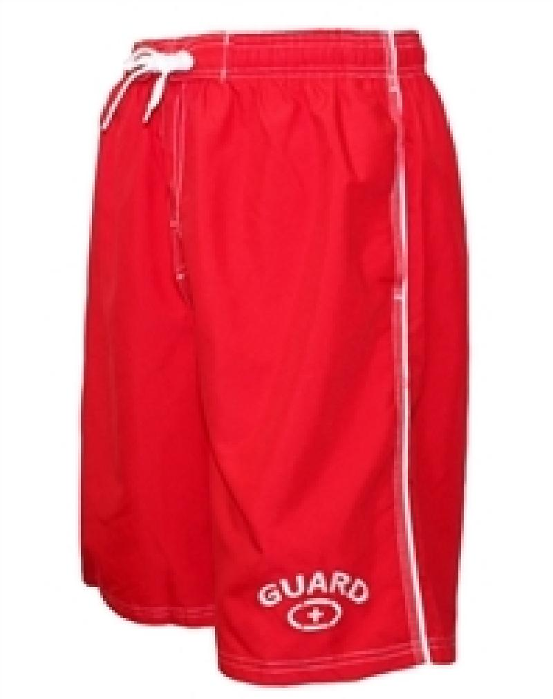 Adoretex Men's Guard Board Short Swimsuit (MG001) - Red - XXXXX-Large