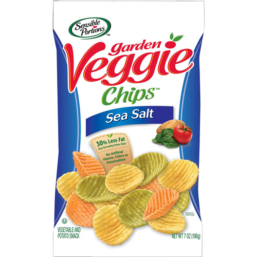 Sensible Portions Garden Veggie Chips Snacks With Sea Salt, 7 oz