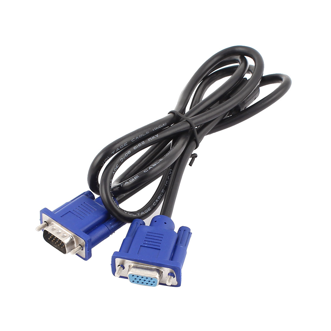 "55"" Long Male to Female M/F 15 Pin VGA Extension Cable Cord for Computer LCD"