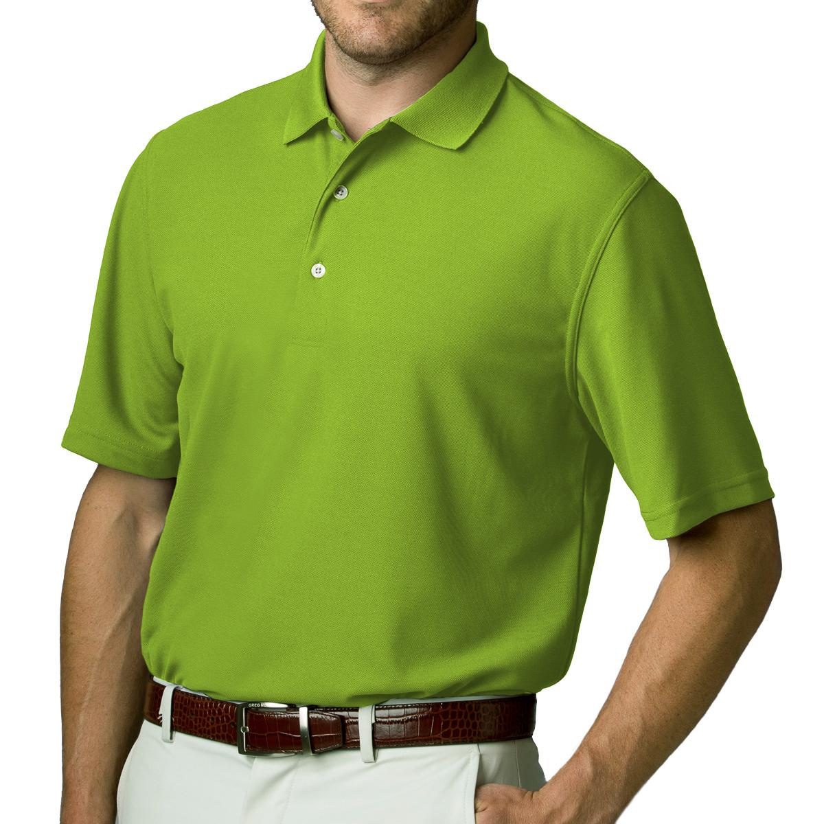 Greg Norman Mens Playdry Short Sleeve Pique Collar Tennis Golf Sport Polo Shirt
