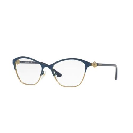 VOGUE Eyeglasses VO4013 5006 Blue/Pale Gold 51MM - Walmart.com