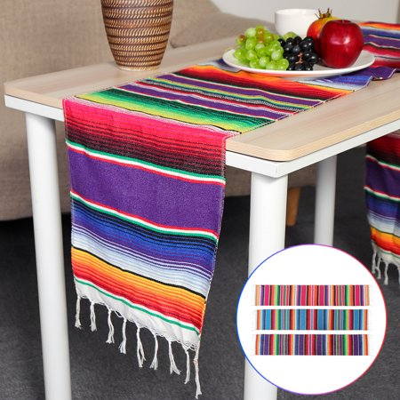Wondrous Mexican Serape Blanket Table Runner Cotton Tablecloth Download Free Architecture Designs Intelgarnamadebymaigaardcom