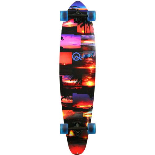 """Quest Island Sunset 42"""" Longboard Skateboard"""