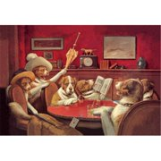 Buy Enlarge 0-587-00015-5P12x18 Dog Poker - This Game Is Over- Paper Size P12x18