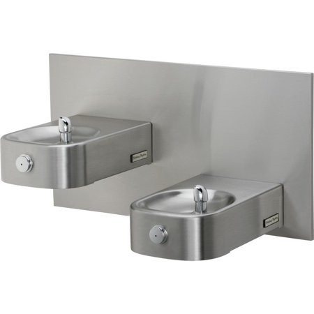 Halsey Taylor HDFF-BLEBP Contour Wall Mounted ADA Outdoor Rated Bi-Level Heavy Duty Drinking Fountain