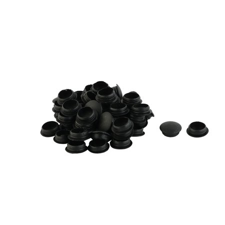 Embout Pied Patin de Meuble en plastique Type de verrouillage Trou de housses Bouchon 12mm Dia 50 Pièces Noir - image 1 de 1