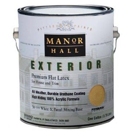 Pittsburgh Paints 70-340-01 1 gal Manor Hall Exterior Eggshell Latex Paint, Ultra Deep Base