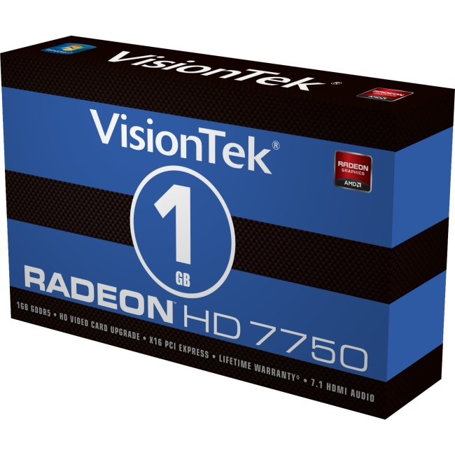 Visiontek Radeon HD 7750 1GB GDDR5 PCI Express 3.0 x16 Graphic Card