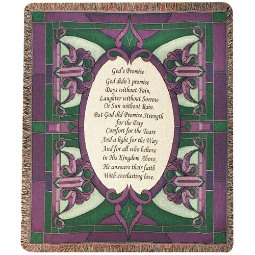 Manual Woodworkers & Weavers Gods Promise Tapestry Cotton Throw