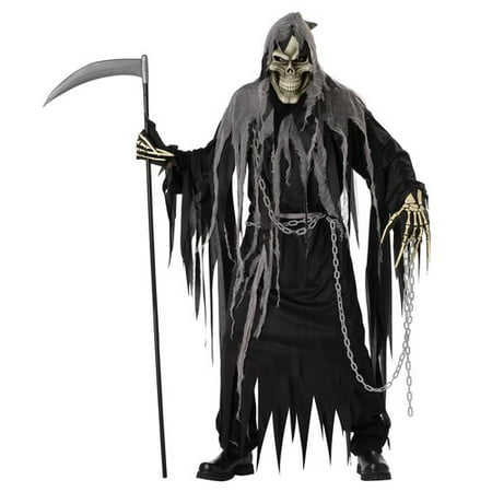 Mr. Grim Horror Robe Adult Halloween Costume - Halloween Horrors The Sounds Of Halloween