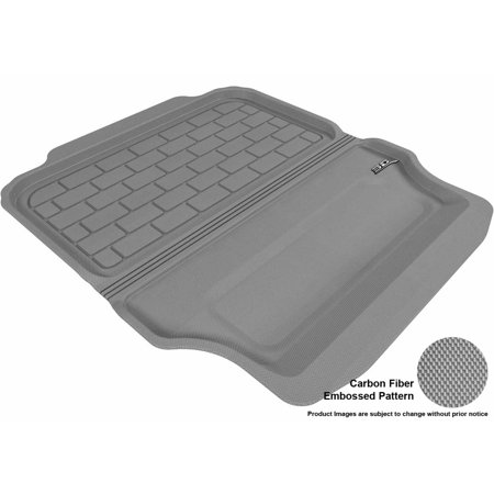 3D MAXpider 2007-2011 BMW 3 Series Convertible (E93) All Weather Cargo Liner in Gray with Carbon Fiber Look