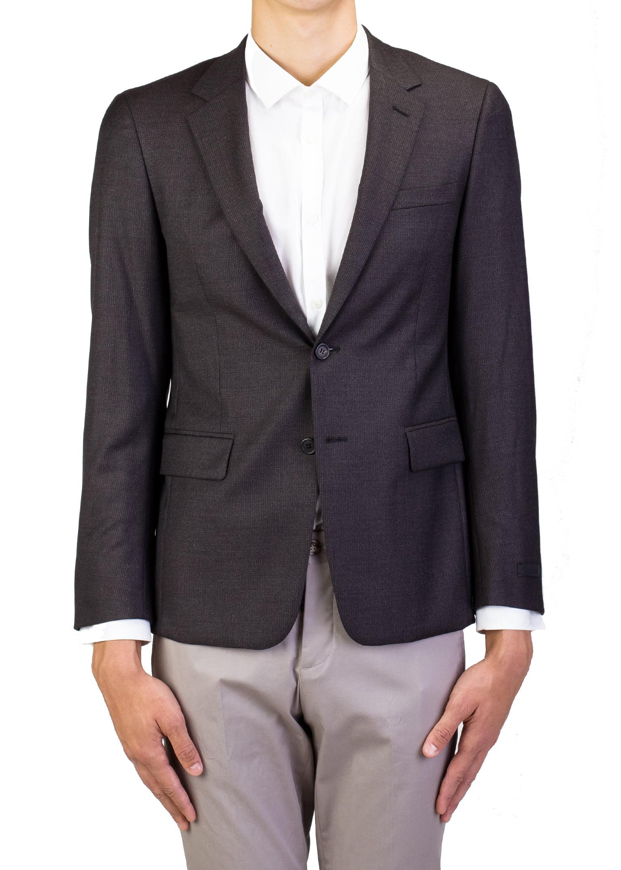 Prada Men's Virgin Wool Two-Button Sport Coat Jacket Checkered Brown by Prada