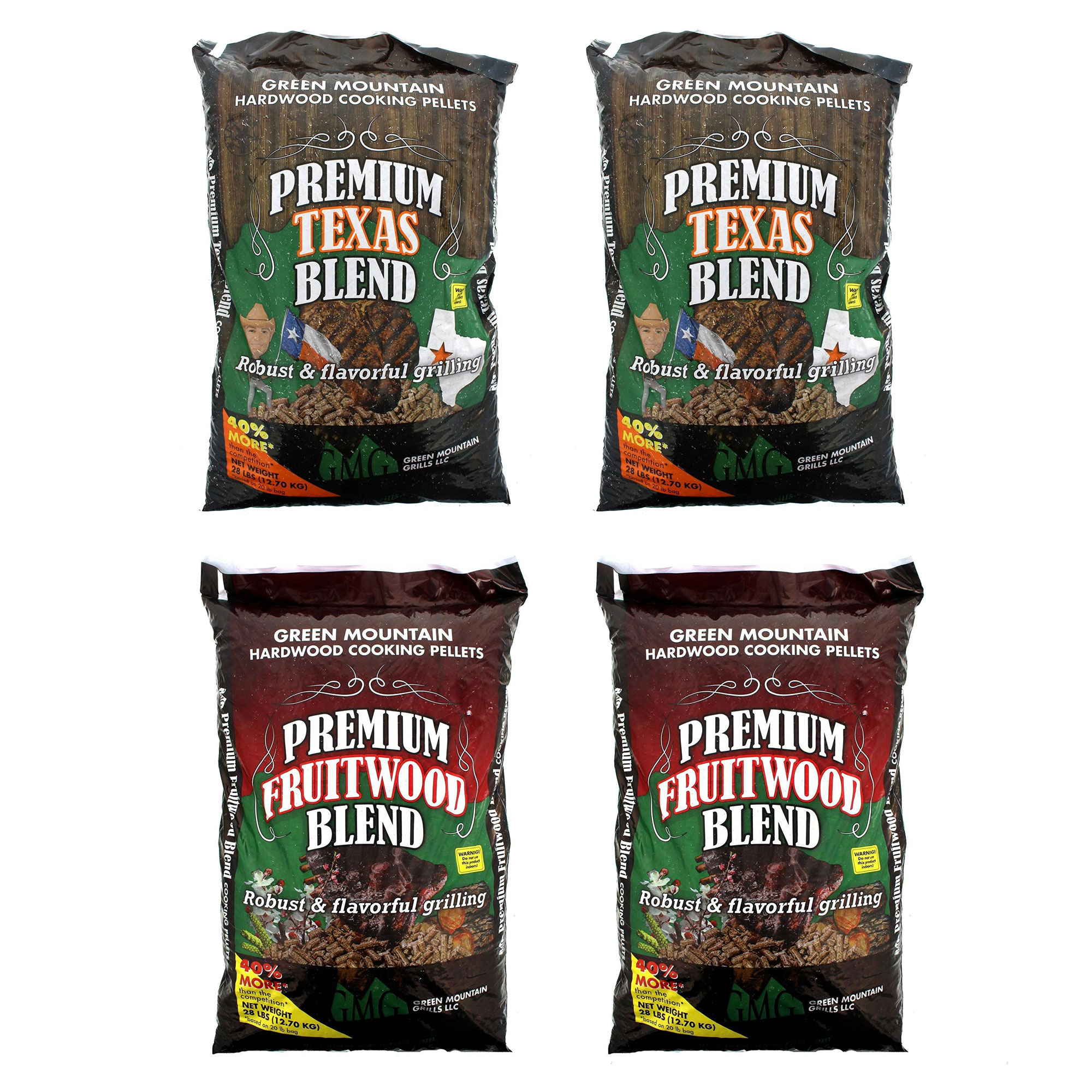Green Mountain Texas Hardwood Grill Pellets (2 Pack), Fruitwood Pellets (2 Pack)