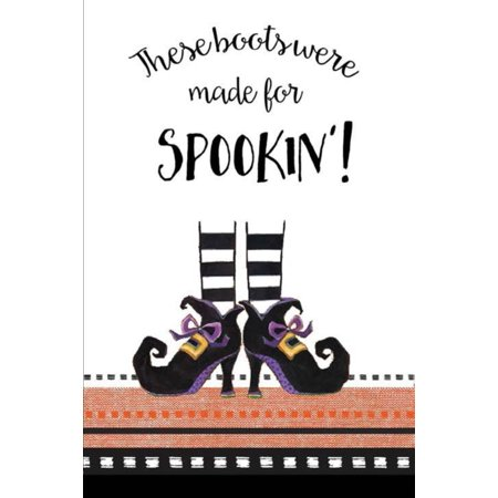 These Boots Were Made for Spookin Halloween Embroidered Kitchen Dish Tea Towel](Covered Dish Ideas For Halloween Party)