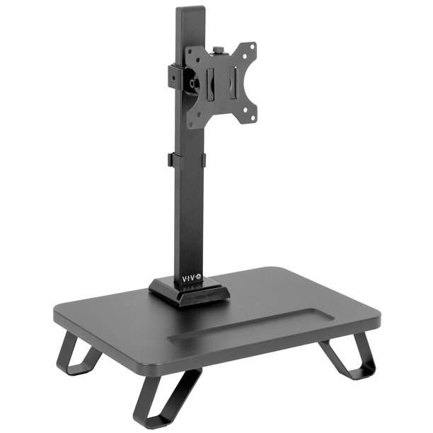 "VIVO Black Freestanding Single Monitor Stand with Riser for 17"" to 32"" Screens 