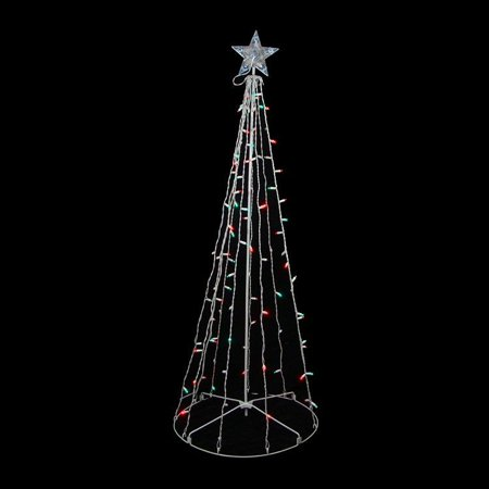 Northlight Christmas Central SIENNA R8404G15 5-ft Red & Green LED Lighted Outdoor Twinkling Christmas Tree Yard Art Decoration