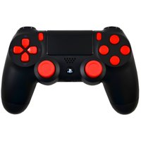 Midnight Modz, Red Out Playstation 4 PS4 Modded Controller, Black