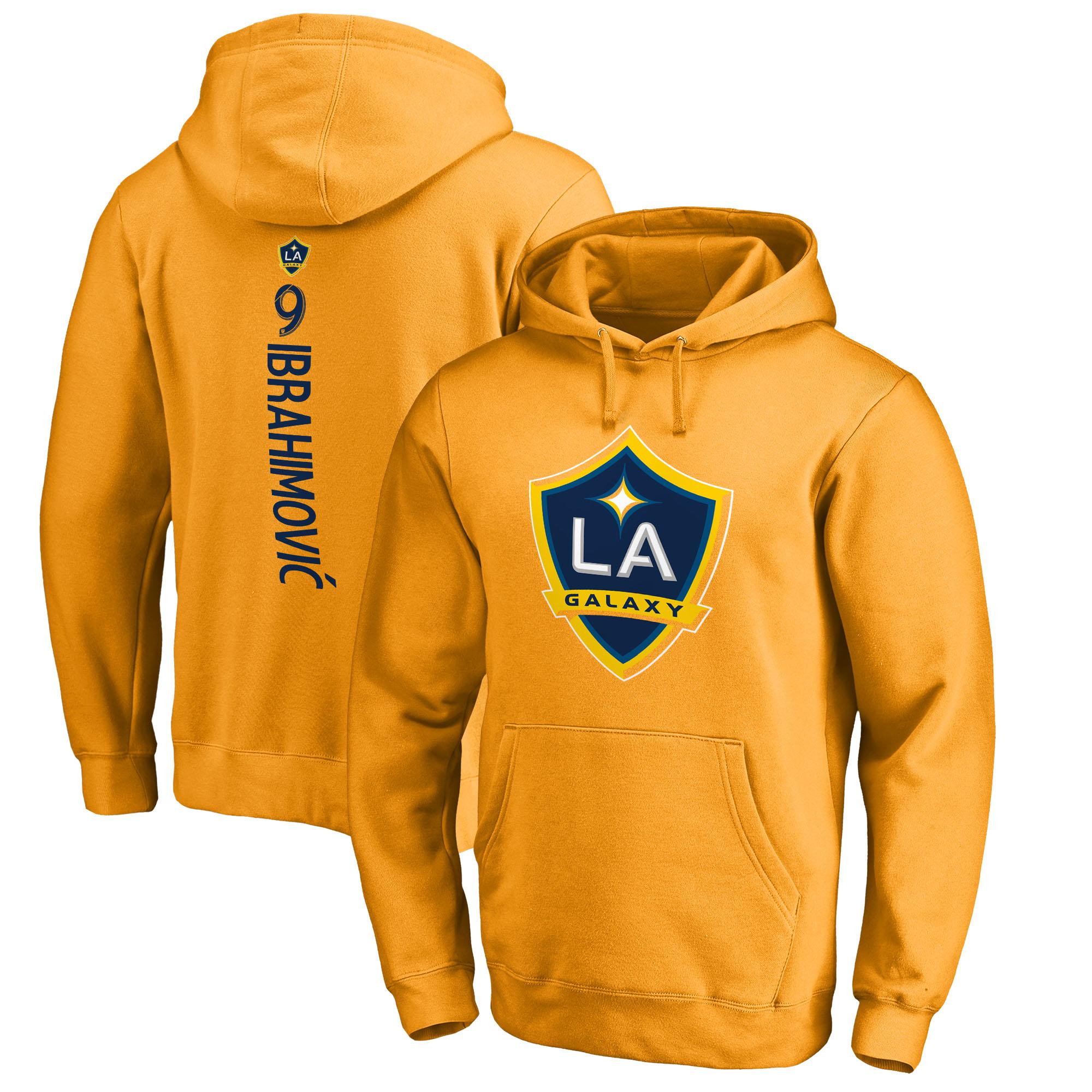 Zlatan Ibrahimovic LA Galaxy Fanatics Branded Backer Pullover Hoodie - Gold