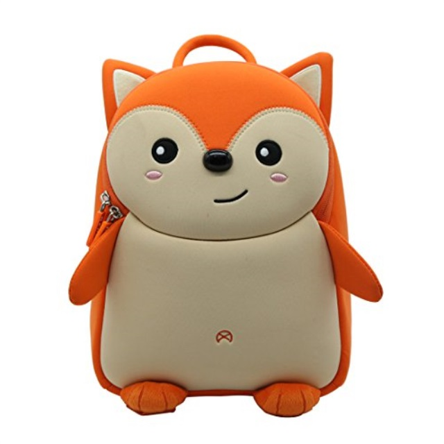 "Backpack 11/"" Puppy Dog Head w// Pencil Pouch Kids Baby Toddler Preschool Bag Tan"
