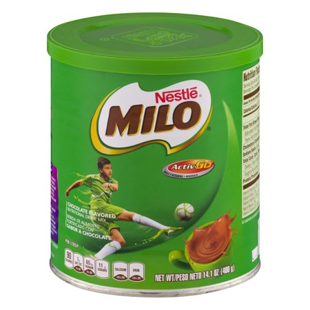 (11 Pack) NESTLE MILO Chocolate Flavored Nutritional Drink Mix 14.1 oz. Canister Chocolate Drink Mix