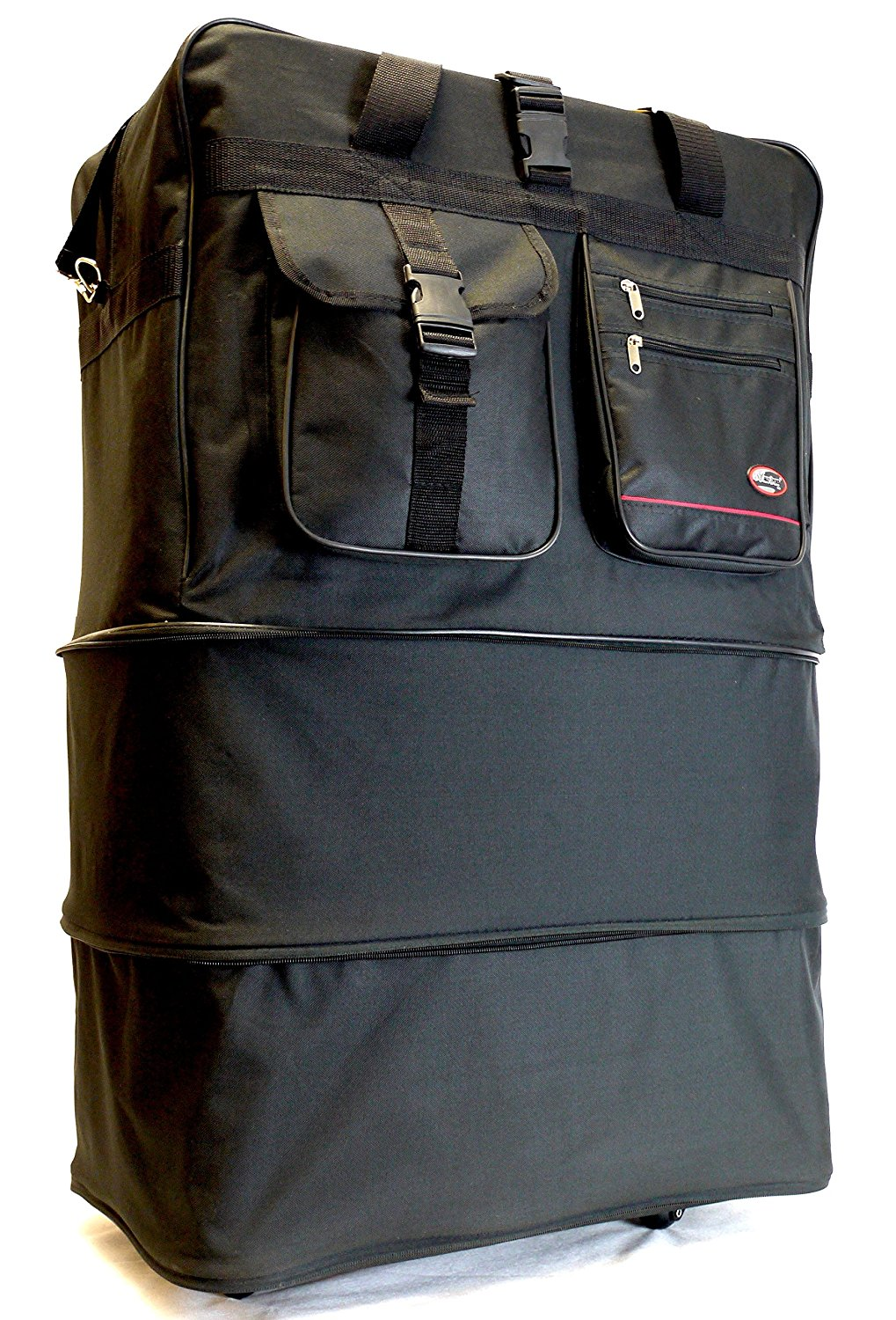 """40"""" Rolling Travel 3 Tiers Expandable Wheeled Duffle Bag   Lightweight Spinner Suitcase Luggage by Argo Sport"""