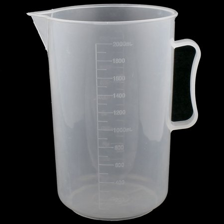 2000mL Graduated Plastic Liquid Water Testing Measuring Cup for Lab Experiment (Graduated Measuring Cup)