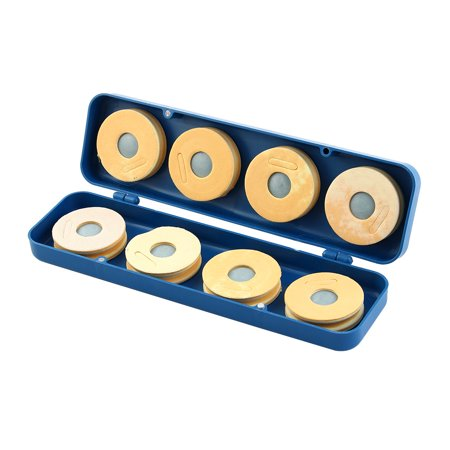 Plastic Rectangle Shape Fishing Line Foam Spool Holder Storage Box Case Gray