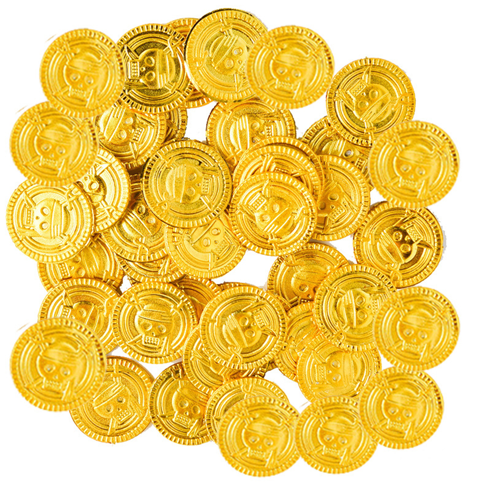 LEGO Lot of 4 Gold Coins Pirates Money Treasure Western