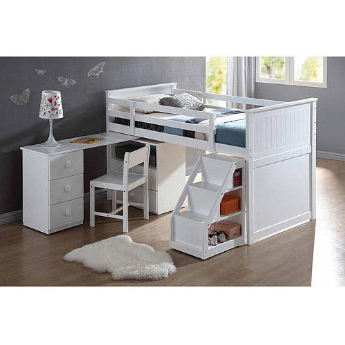 Wyatt Twin Loft Bed White Walmart Com
