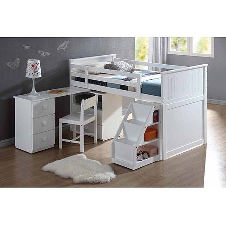 Wyatt Twin Loft Bed, White