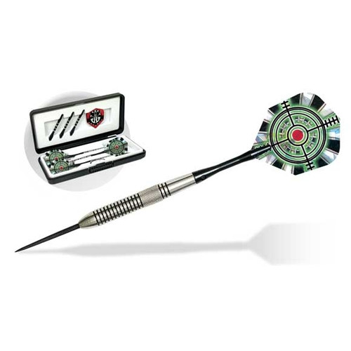 Dart World Sharp Shooter Steel Tip Darts with Clam Case (Set of 3)