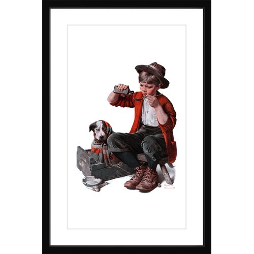 "Marmont Hill ""Sick Puppy"" by Norman Rockwell Framed Art Print"
