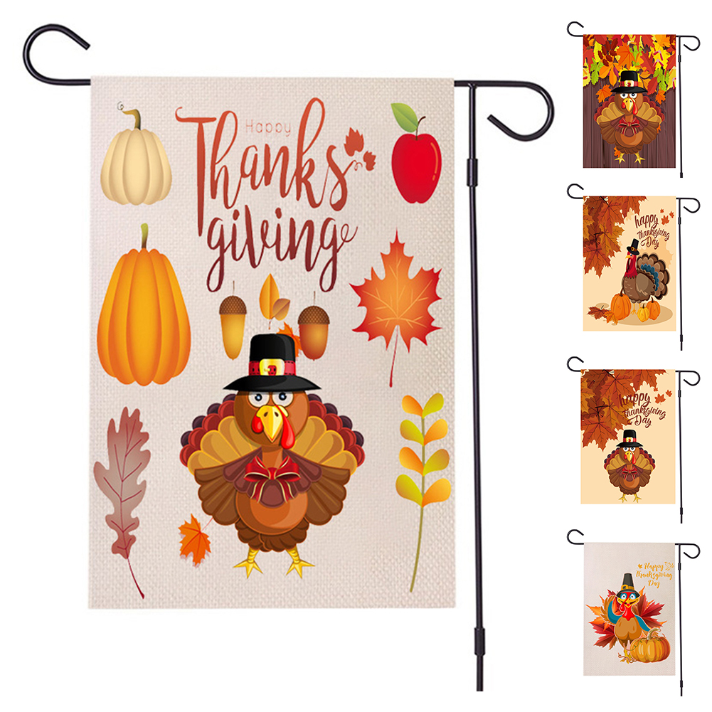 Aofa Pilgrim Turkey Garden Flag Fall Thanksgiving Small Decorative Yard House Banner Walmart Canada