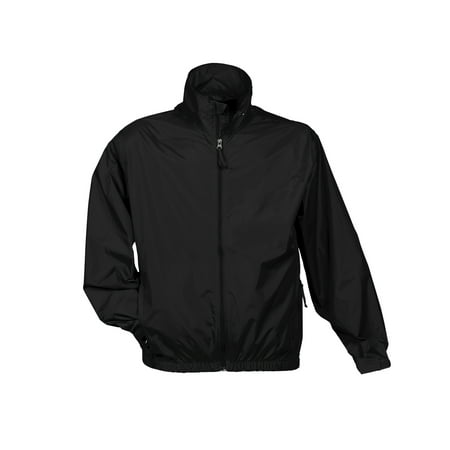 Nylon Taffeta Jacket (Tri-Mountain Atlas 1700 Unlined nylon jacket, 2X-Large, Black)