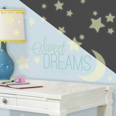Sweet Dreams Glow in the Dark Peel and Stick Wall Decals