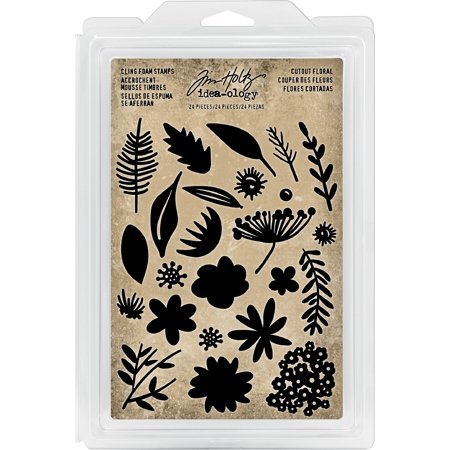 Idea-Ology Cling Foam Stamps 24/Pkg-Cutout Floral
