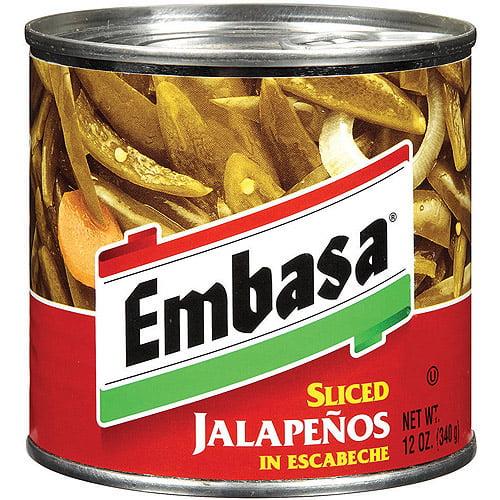 Embasa Sliced Jalapenos In Escabeche, 12