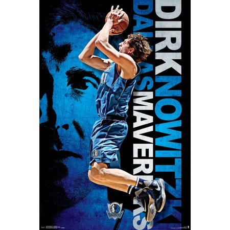 Dallas Mavericks Dirk Nowitzki NBA Basketball Sports Poster