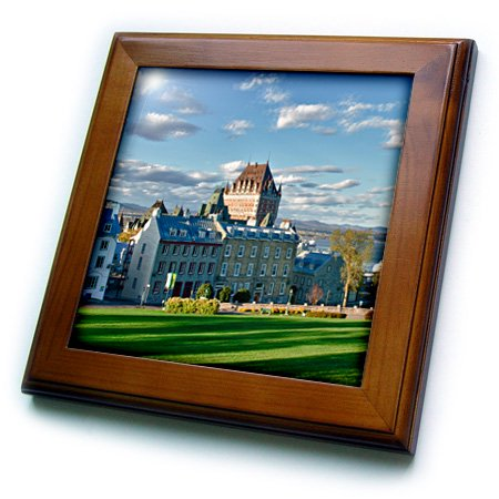 City Framed Tile (3dRose Canada, Quebec, Quebec City. The Chateau Frontenac Hotel. - Framed Tile, 6 by 6-inch )