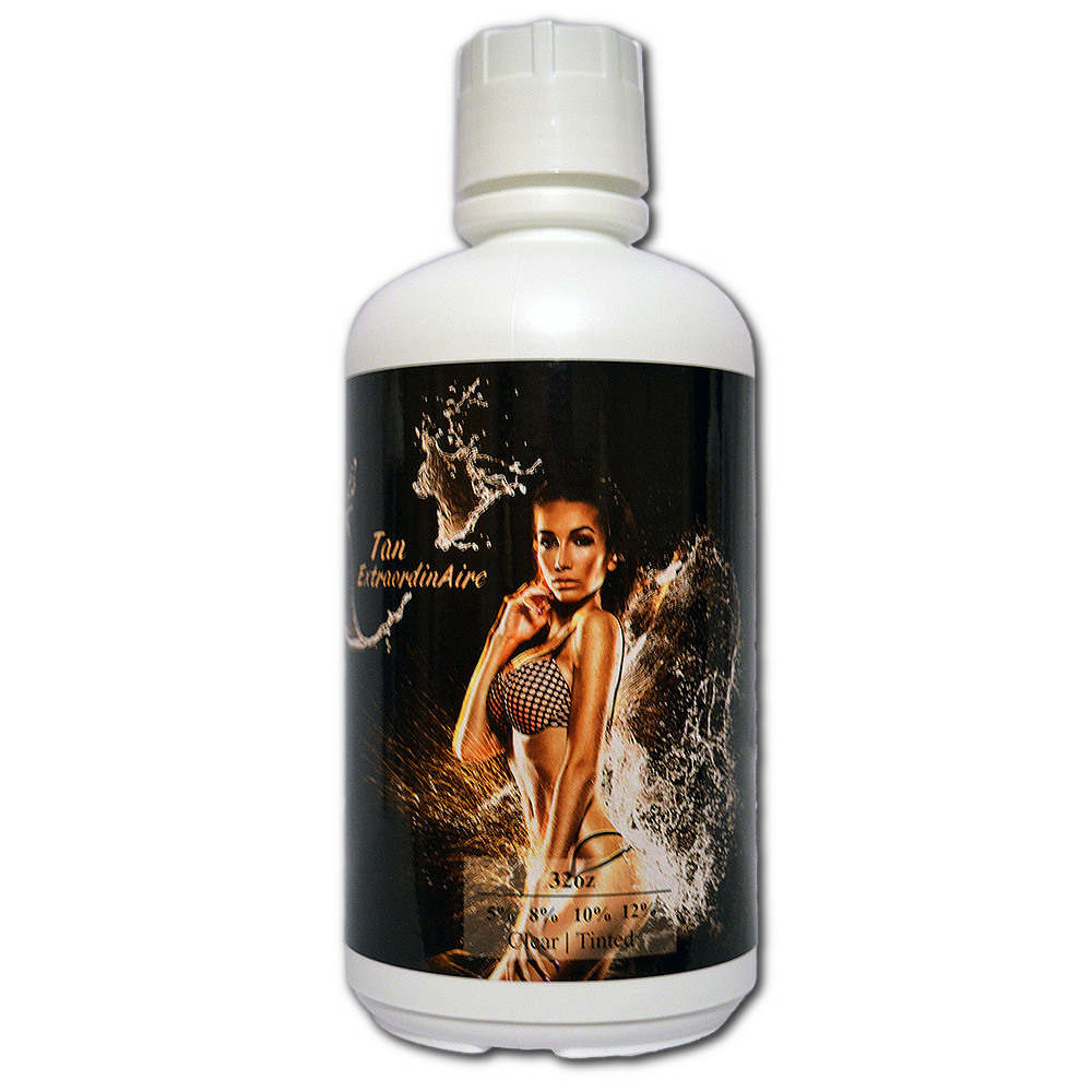 Tan Extraordianire Botanical 99.9% Natural Blend, 5% DHA (light) HVLP Spray Tanning Solution - 1 Gallon
