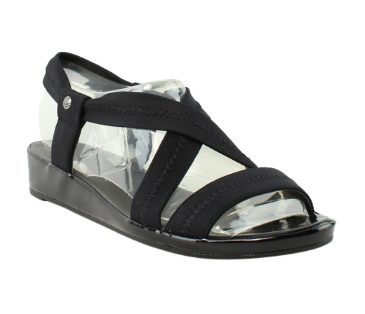 Lifestride Womens Black Strap Sandals Size 8.5 New by LifeStride