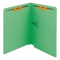 Smead End Tab Fastener Folders 2-Ply Tabs Green 50/BX Letter (25140)